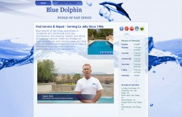 Blue Dolphin Pools of San Diego - Micro Site small business startup website
